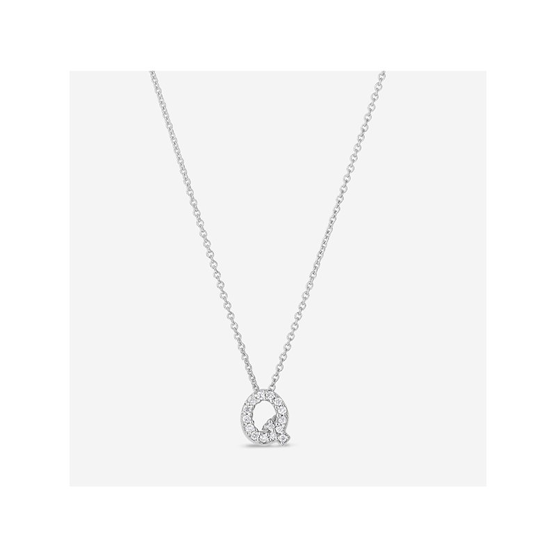 "Roberto Coin Diamond ""Q"" Pendant"