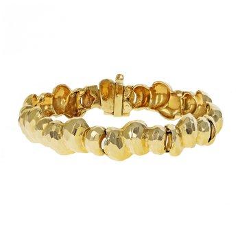 Faceted Golden Nugget Bracelet
