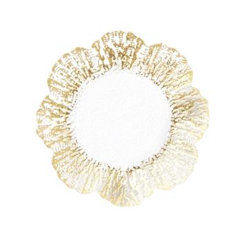Rufolo Glass Gold Canape Plate