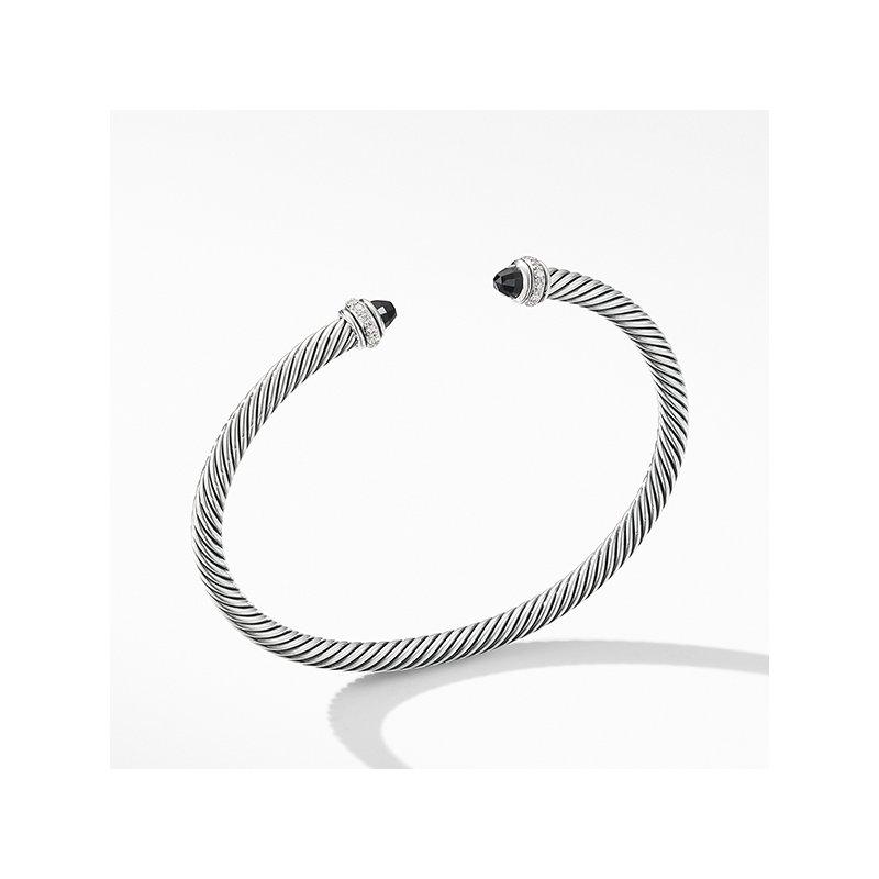 David Yurman Cable Classic Bracelet with Black Onyx and Diamonds