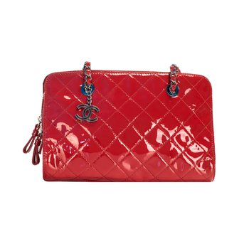 Chain Handle Zip Bag