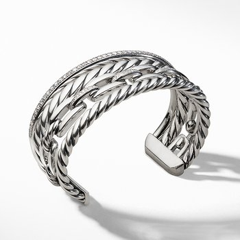 Wellesley Cuff with Diamonds, 27mm
