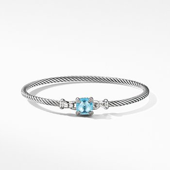 Chatelaine Bracelet with Blue Topaz and Diamonds