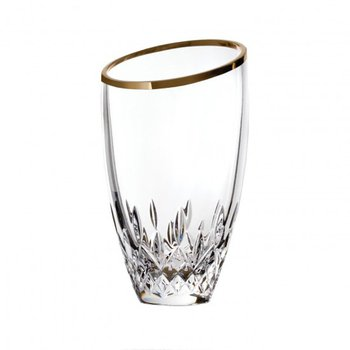 Lismore Essence Gold Angular Vase