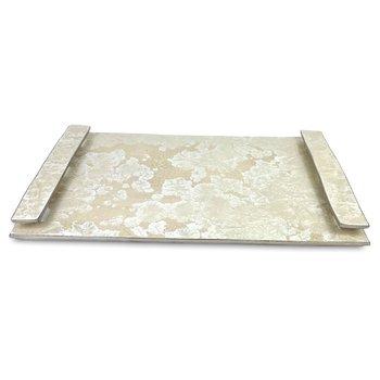 Borealis White Handled Tray