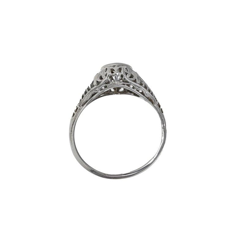 Estate Radcliffe Diamond Filigree Ring