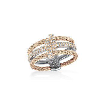 Carnation Dual Cable Opulence Ring