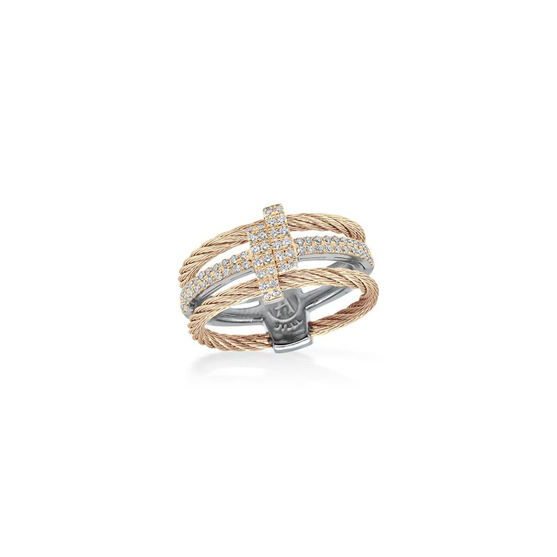 ALOR Carnation Dual Cable Opulence Ring