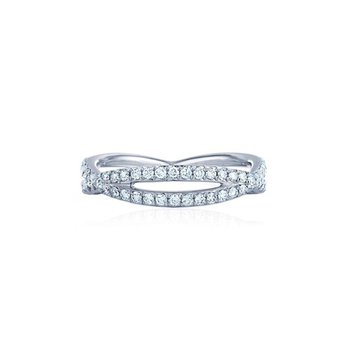 Fidelity Ring with Pave Diamonds