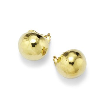Classico Medium Hammered Pinball Clip Stud Earrings
