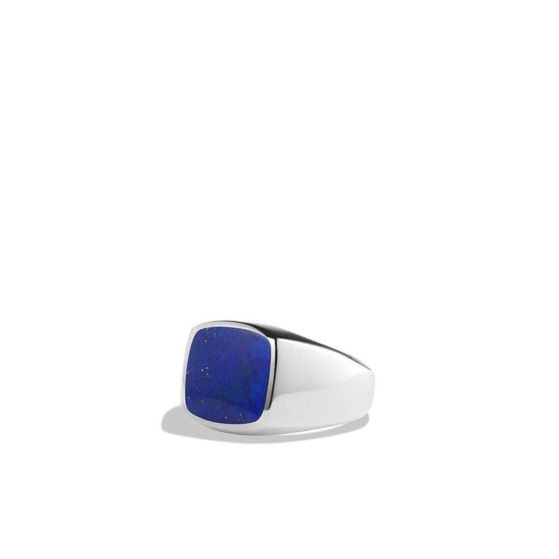 David Yurman Exotic Stone Ring with Lapis Lazuli in Silver, 12mm