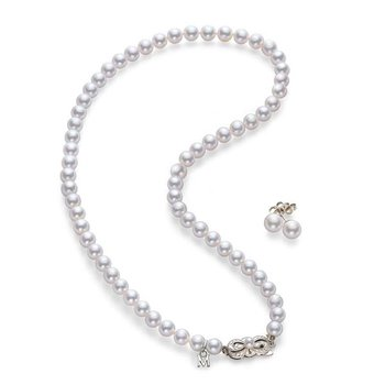 Akoya Pearl Strand and Earring Set