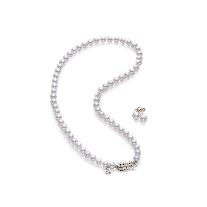 Mikimoto Akoya Pearl Strand and Earring Set