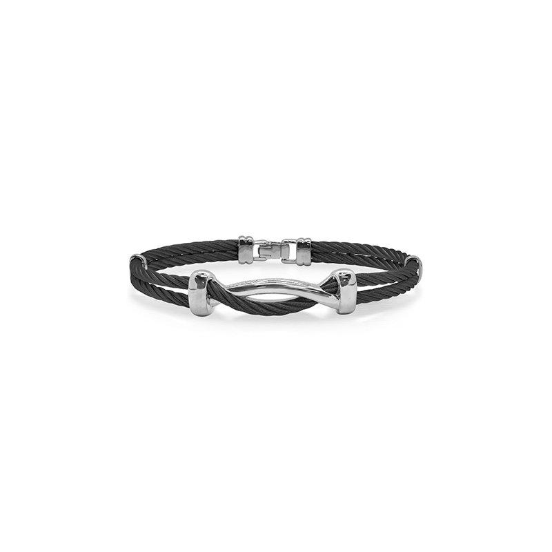 ALOR Black Cable Twist Bracelet