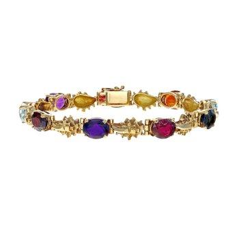 Gemstone & Golden Nugget Bracelet