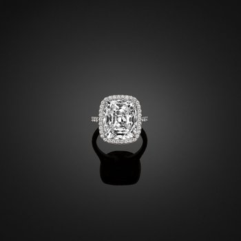 10.03ct Cushion. GIA Certified.
