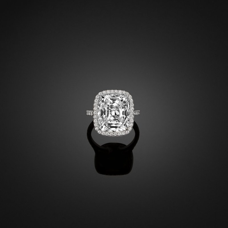 Robert C. Wesley 10.03ct Cushion. GIA Certified.