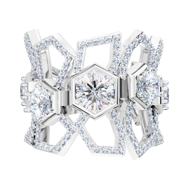 Luminous Diamonds Be True Ring