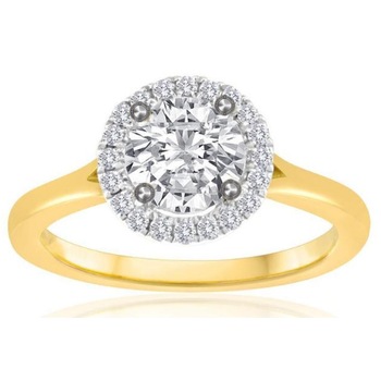 SOLD! -14k Yellow Gold Halo with 1.20 carat Mann Made® Lab Grown Diamond