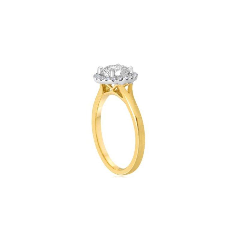Imagine Bridal SOLD! -14k Yellow Gold Halo with 1.20 carat Mann Made® Lab Grown Diamond