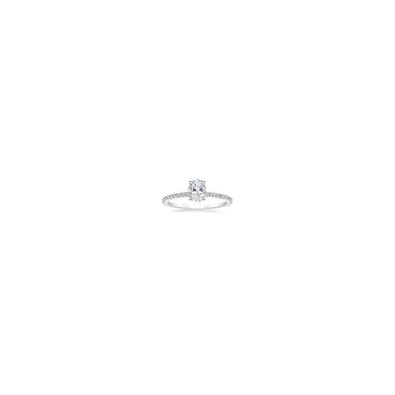 SOLD! - 14k White Gold- 0.94 carat Mann Made® Lab Grown Diamond Included