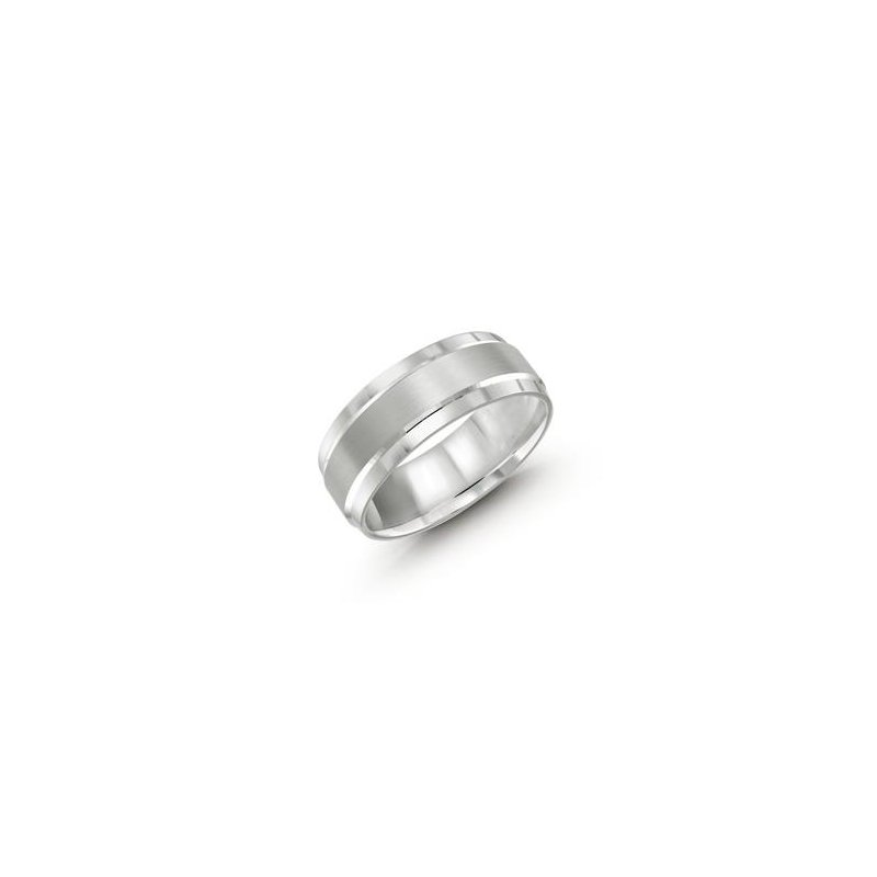 MALO Men's Cobalt Ring with Satin Finish Inlay