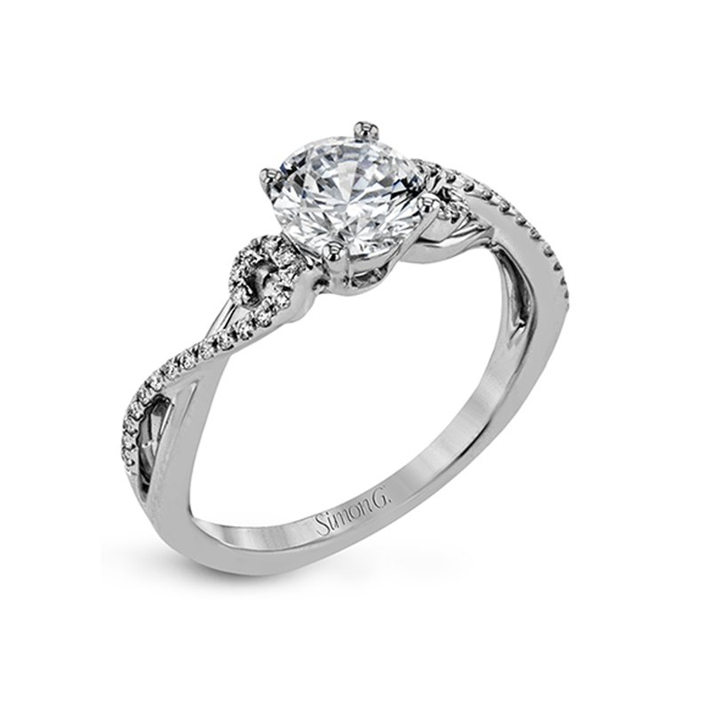 SOLD!- 18k White Gold with 1.01 carat Lab Grown Mann Made® Diamond Included