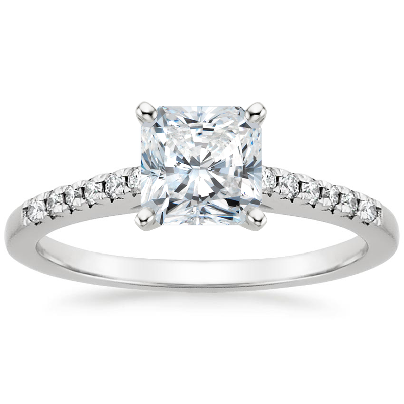 Simon G SOLD! - 18k White Gold Ring- 2.02 carat Lab Grown Mann Made® Diamond Included