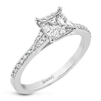 SOLD! - 18k White Gold Ring- 2.02 carat Lab Grown Mann Made® Diamond Included
