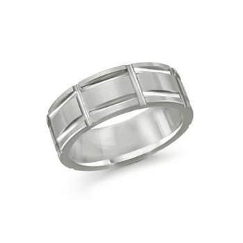 Men's Textured Pattern Cobalt Ring