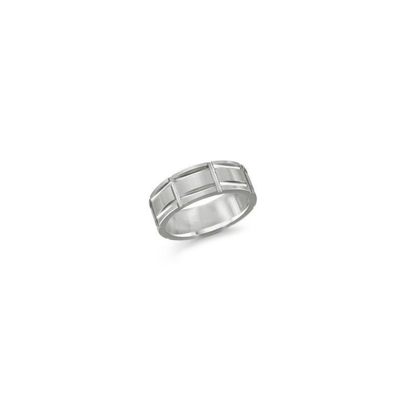 MALO Men's Textured Pattern Cobalt Ring