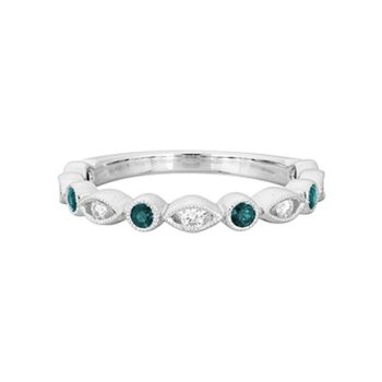 Alexandrite & Diamond Stackable Band