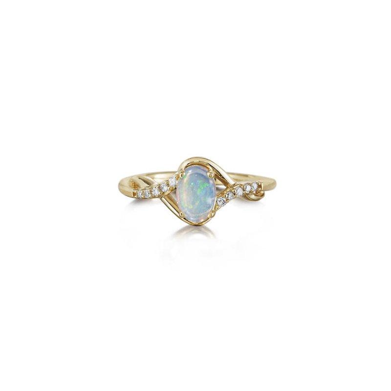 Lasker Gemstone Australian Opal Ring