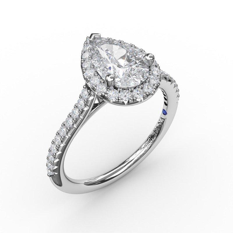 Fana Pear Shaped Halo Engagement ring Mounting