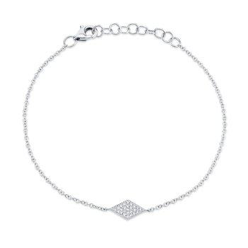 Simple Chain Bracelet with Diamond Pave