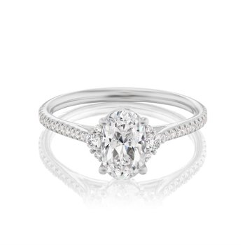 Petite Oval Engagement Ring