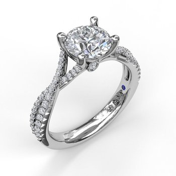 Twisting Diamond Ring