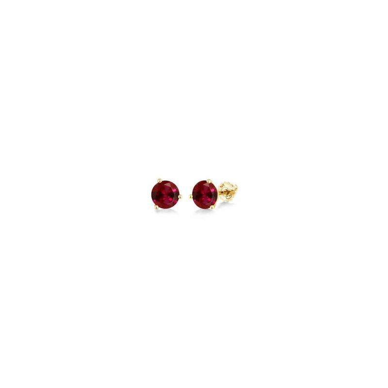Lasker Gemstone Chatham Ruby Studs