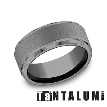 9MM Step Edge Tantalum Band