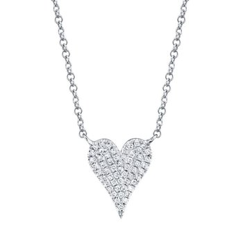 Sexy Heart Diamond Pave Necklace