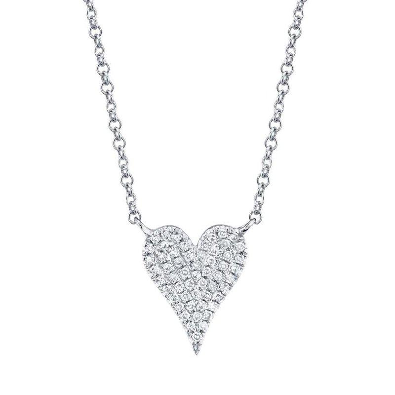 Lasker Diamond Fashion Sexy Heart Diamond Pave Necklace