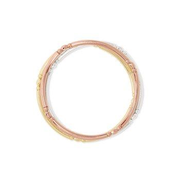 Lori Stretch Bracelet Set 3 Mixed Metal