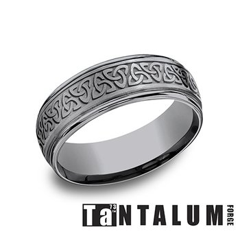 7mm Tantalum Band - Celtic Knot
