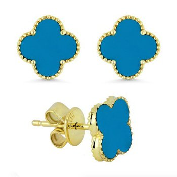 Granada Floral Turquoise Earrings