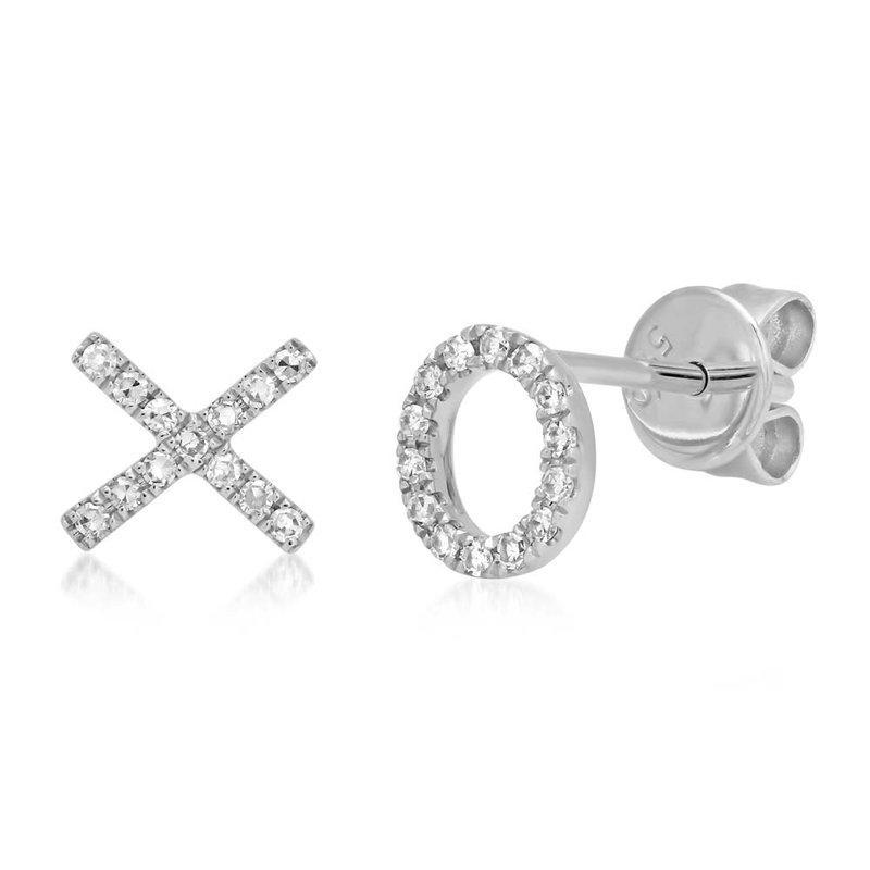 Lasker Diamond Fashion X & O Diamond Earrings