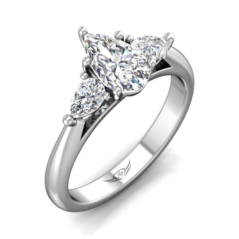 Forevermark Forevermark Platinum Three Stone Ring with Pear-ctu Diamonds