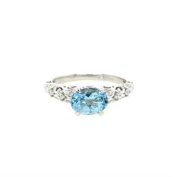 Vintage-Inspired Aquarmarine Ring
