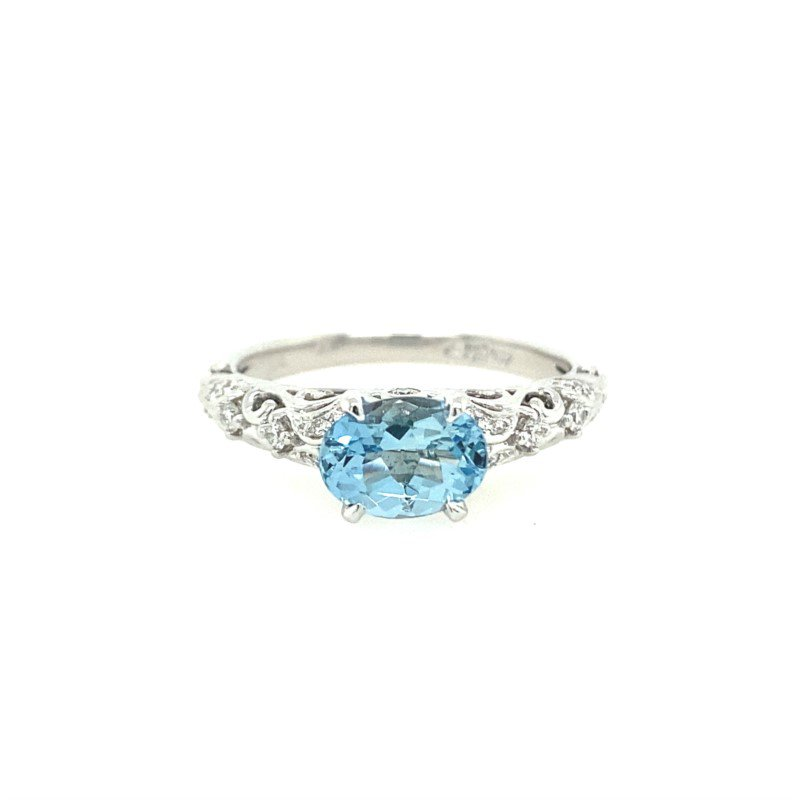 Lasker Gemstone Vintage-Inspired Aquarmarine Ring