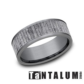 Tantalum Split Wood Band