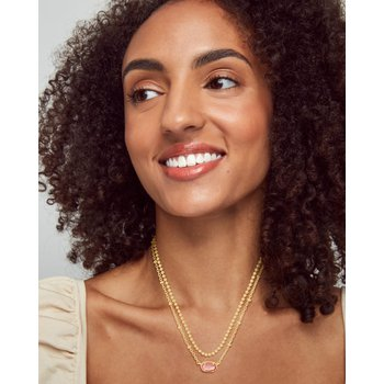 Emilie Gold Multi Strand Necklace In Iridescent Drusy